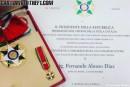 Fernando Alonso recibe la condecoración de 'Commendatore' de parte de Italia