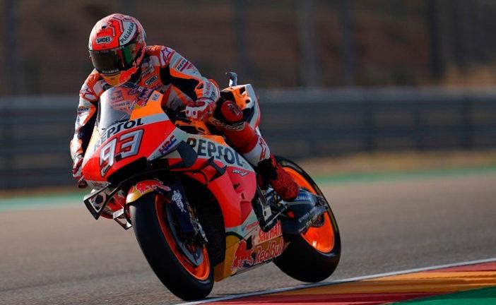 MotoGP: Márquez marca el ritmo en Aragón