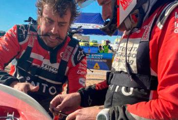Rally Dakar: Alonso pierde una rueda y más de dos horas en la 2da etapa