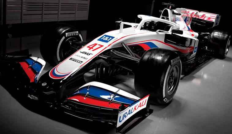 Fórmula 1: Haas presenta el VF-21 de Schumacher y Mazepin