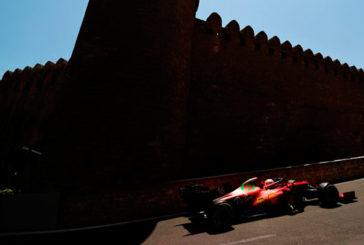 Fórmula 1: Leclerc hace pole en una accidentada clasificación en Bakú