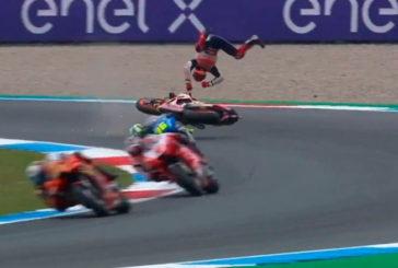 MotoGP: Gran día para Viñales y terrible caída de Marc Márquez